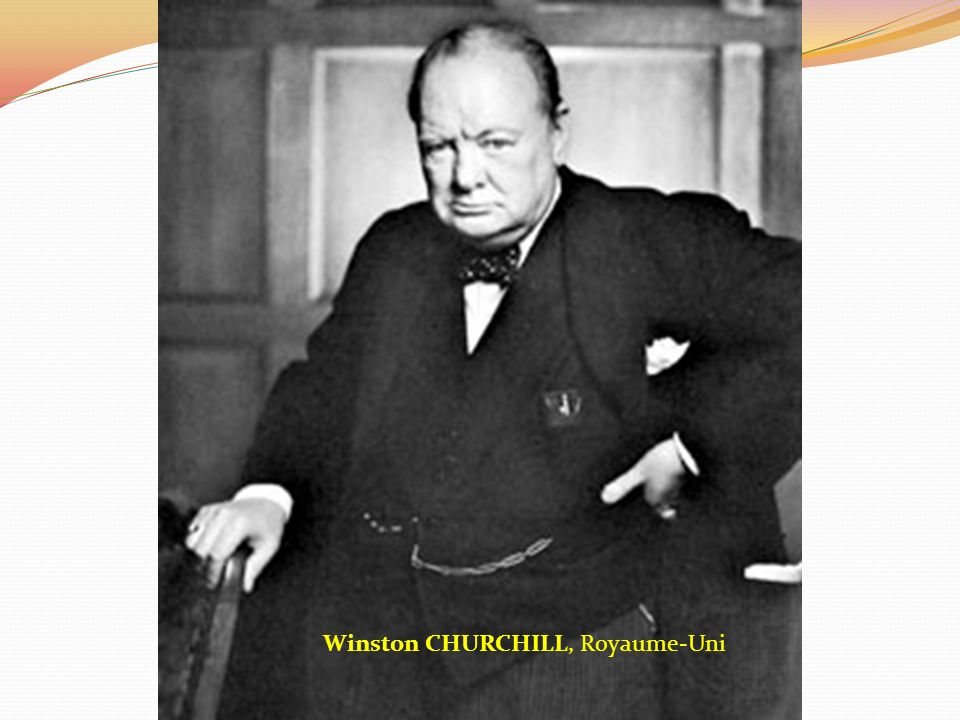 1945 – Conférence de Yalta (URSS) CHURCHILL STALINE ROOSEVELT