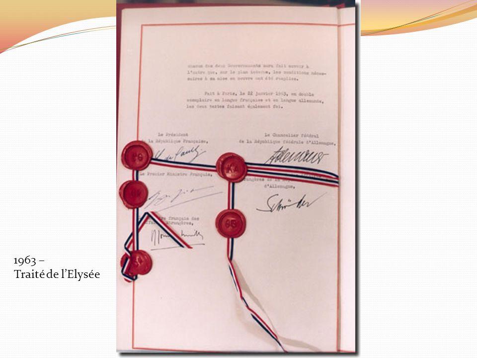 1963 – Traité de lElysée
