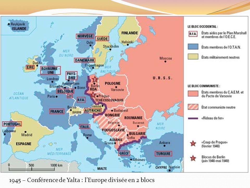 1945 – Conférence de Yalta : lEurope divisée en 2 blocs