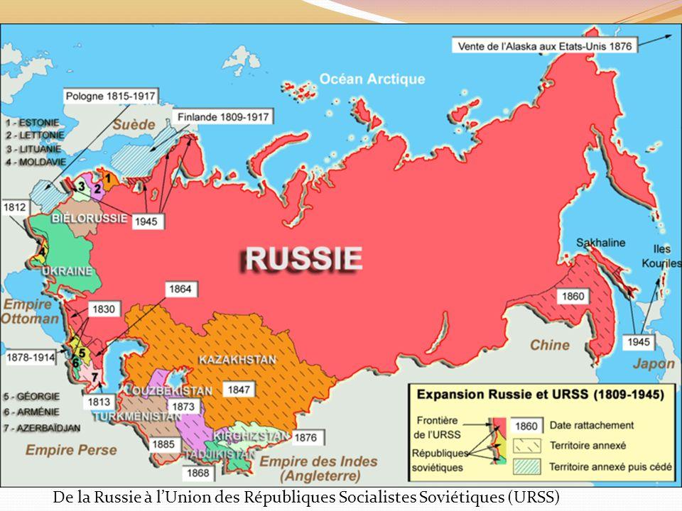 De la Russie à lUnion des Républiques Socialistes Soviétiques (URSS)