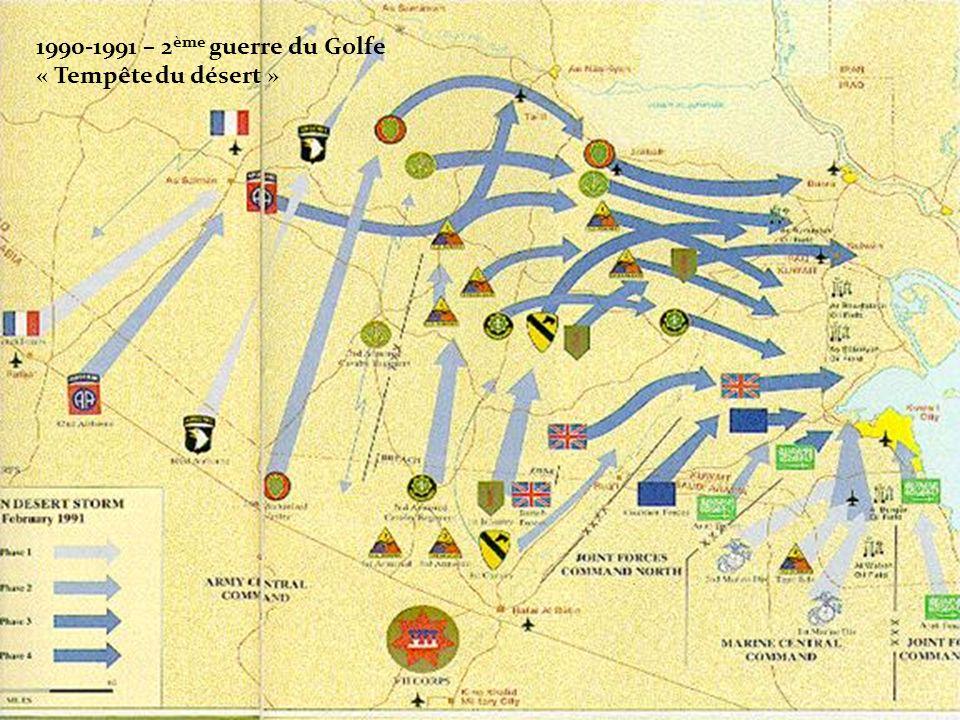 1990-1991 – 2 ème guerre du Golfe « Tempête du désert »