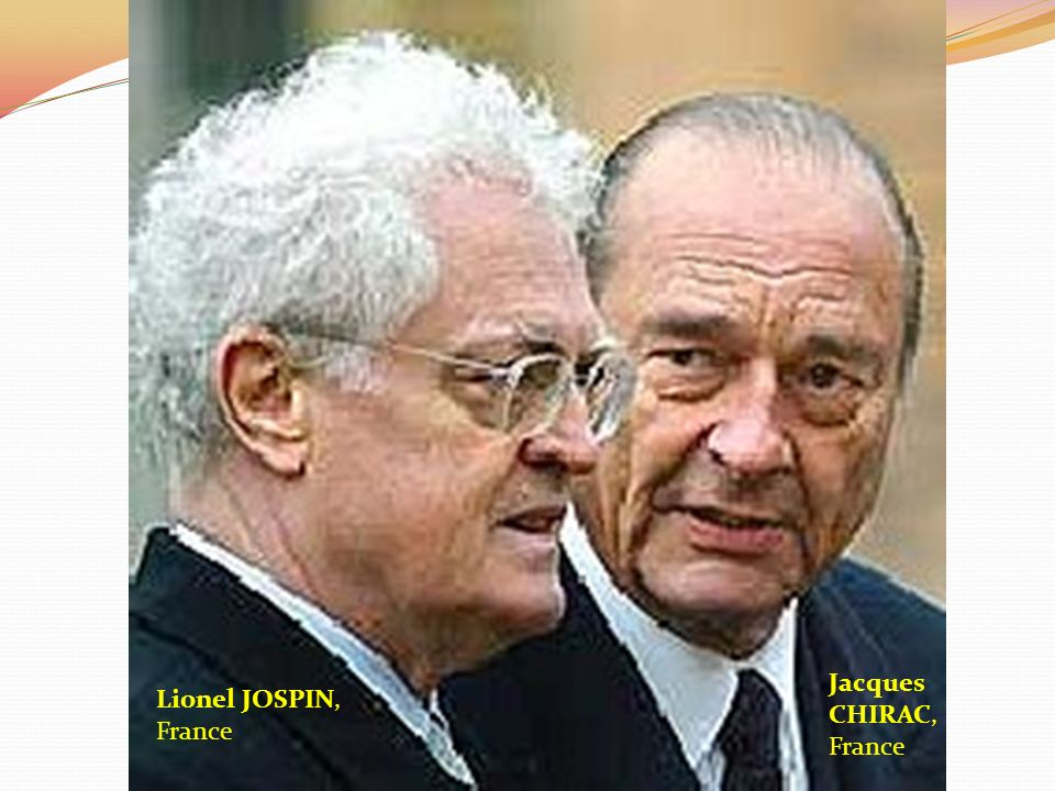 Lionel JOSPIN, France Jacques CHIRAC, France