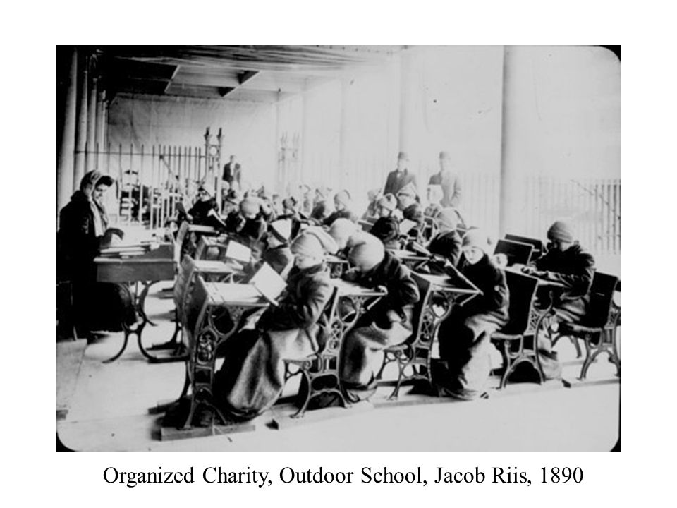 Organized Charity, Outdoor School, Jacob Riis, 1890