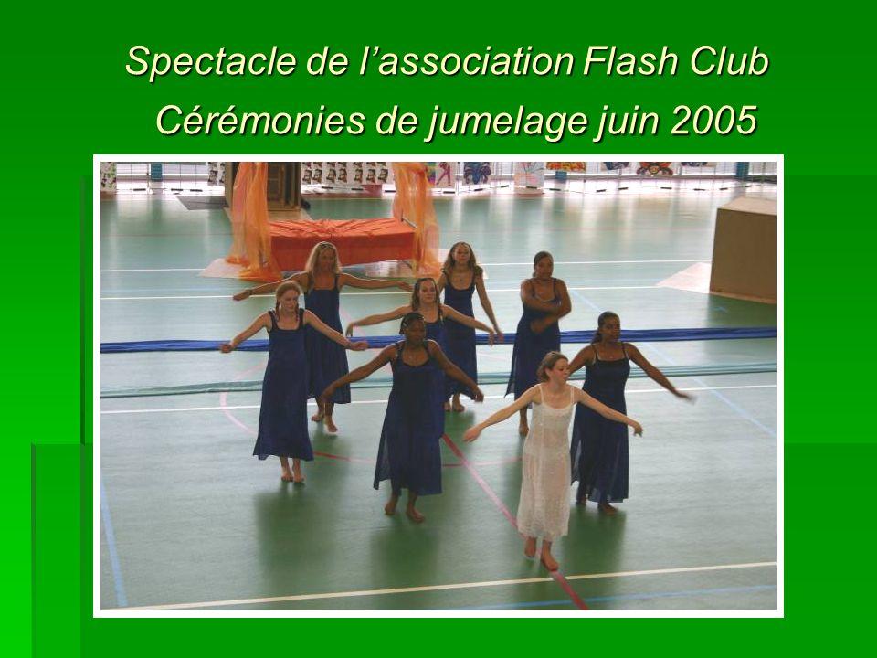 Spectacle de lassociation Flash Club Cérémonies de jumelage juin 2005