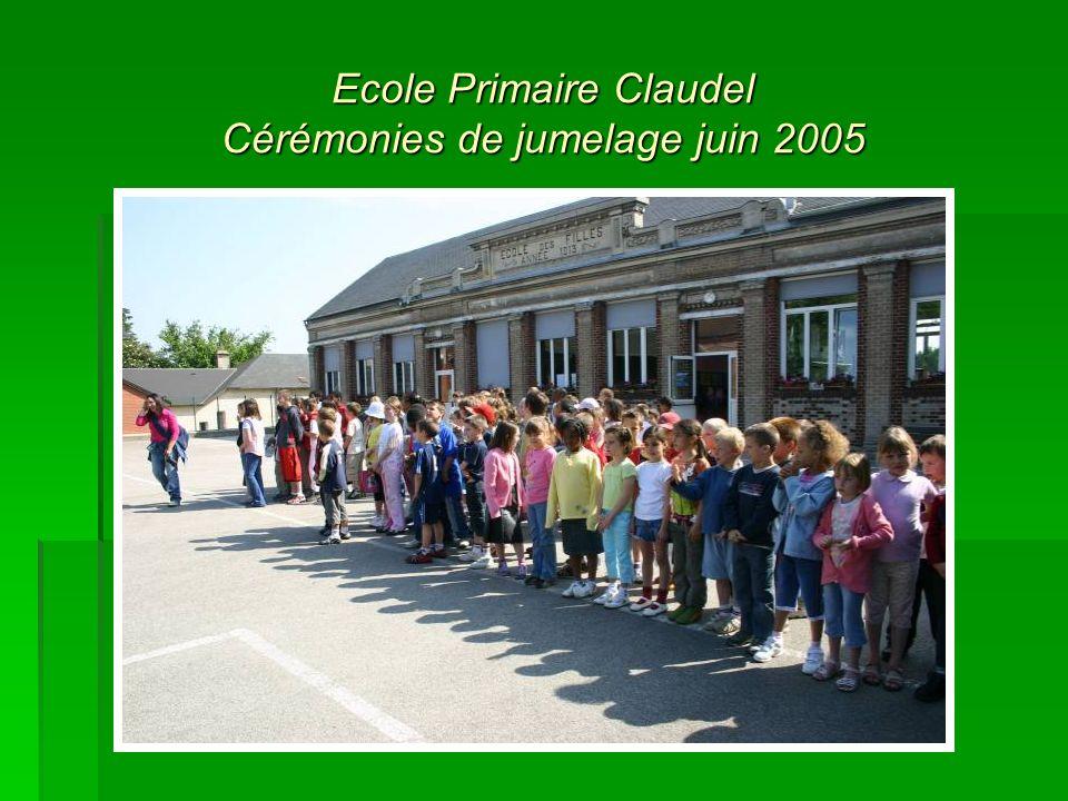 Ecole Primaire Claudel Cérémonies de jumelage juin 2005