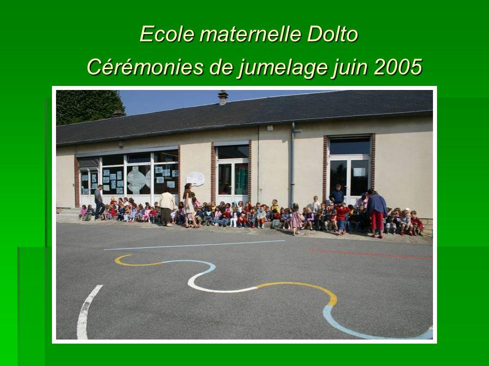 Ecole maternelle Dolto Cérémonies de jumelage juin 2005