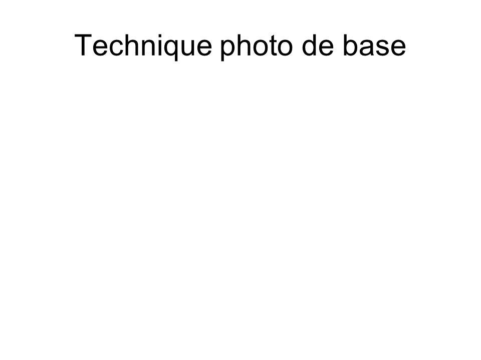 Technique photo de base