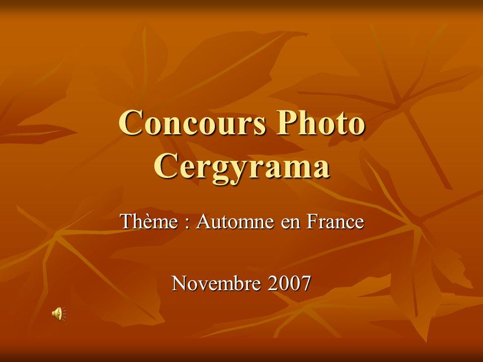 Concours Photo Cergyrama Thème : Automne en France Novembre 2007