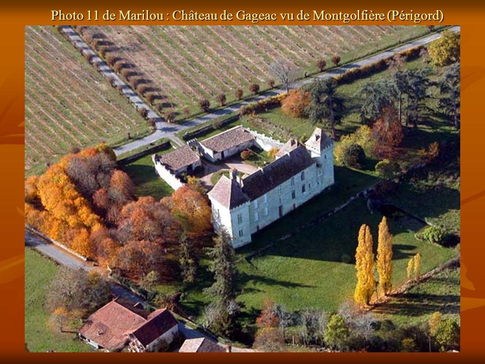 Photo 11 de Marilou : Château de Gageac vu de Montgolfière (Périgord)