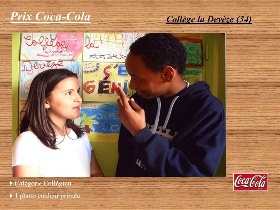 Prix Coca-Cola Collège la Vallée Verte (30) « Les copains » Catégorie Collégien 1 photo couleur primée Photographe : 4ème A option NTI