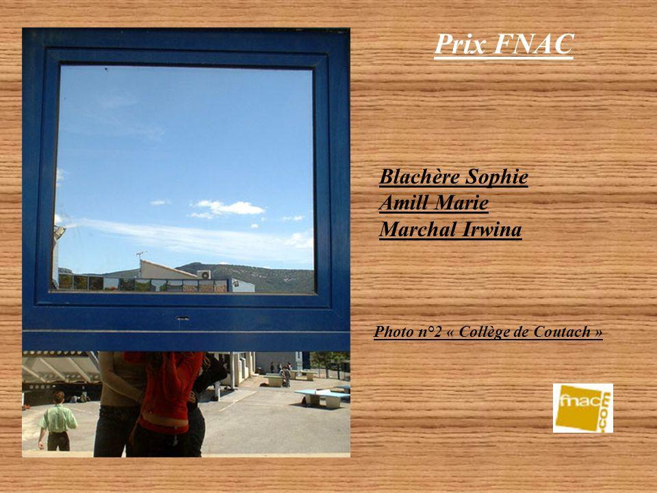 Prix FNAC Catégorie Collégien 2 photos couleur primées Blachère Sophie Amill Marie Marchal Irwina Photo n°1 « Collège de Coutach »