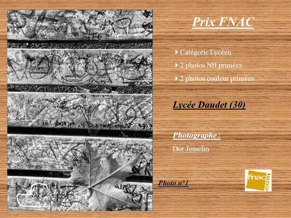 Prix FNAC Catégorie Lycéen 1 photo couleur primée Lycée Jules Raimu (30)