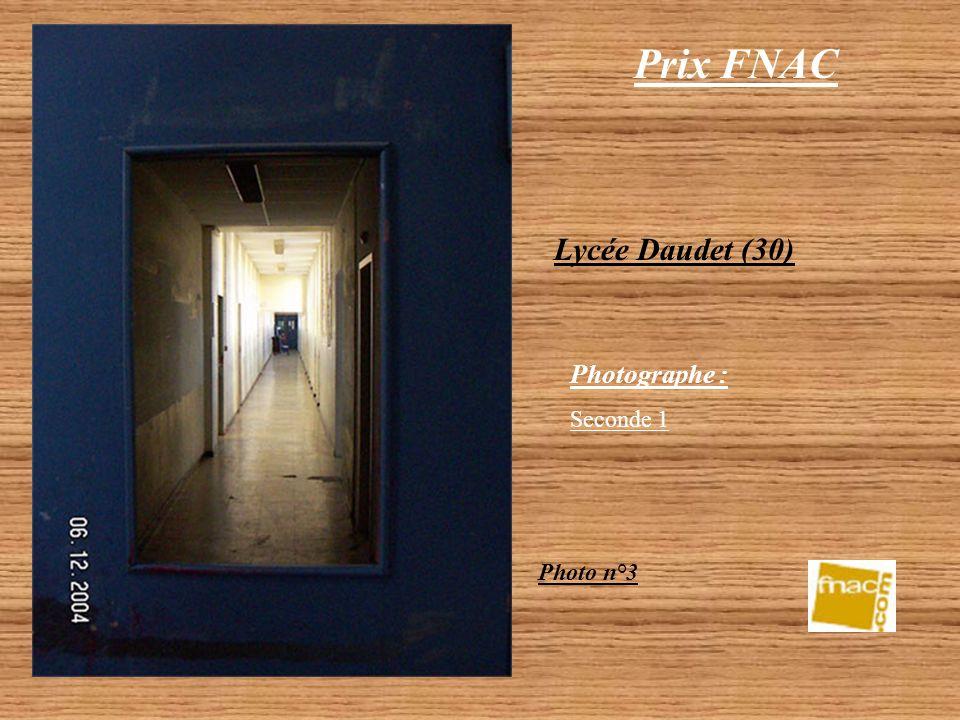 Prix FNAC Lycée Daudet (30) Photo n°2 Photographe : Seconde 1