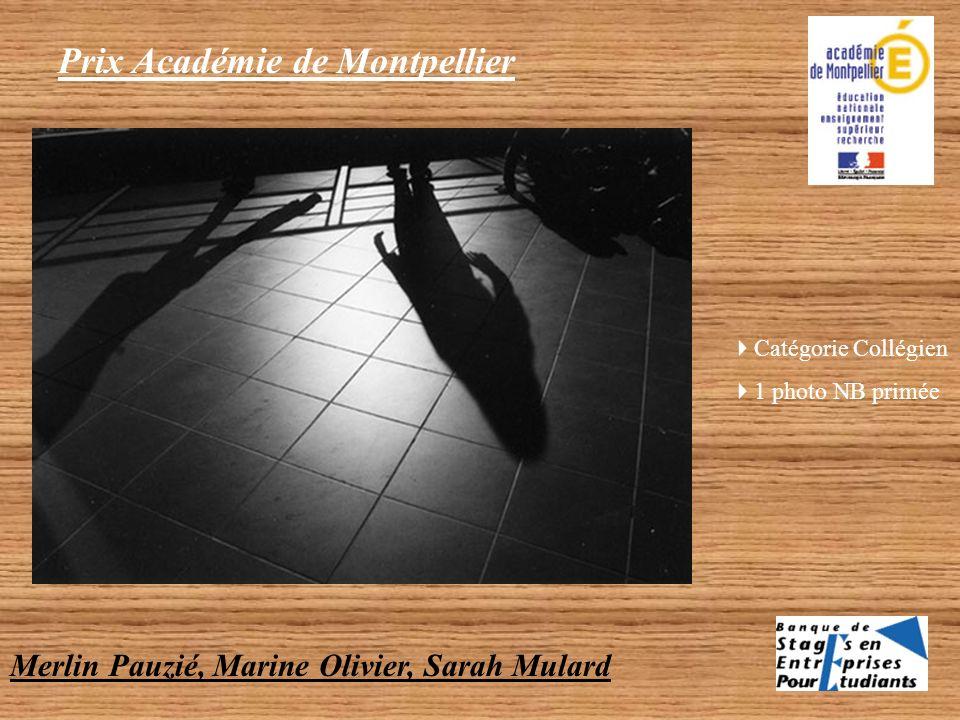 Prix Académie de Montpellier Catégorie Collégien 1 photo NB primée Savin Gaëlle « ITEP Nazareth (Carnon) »
