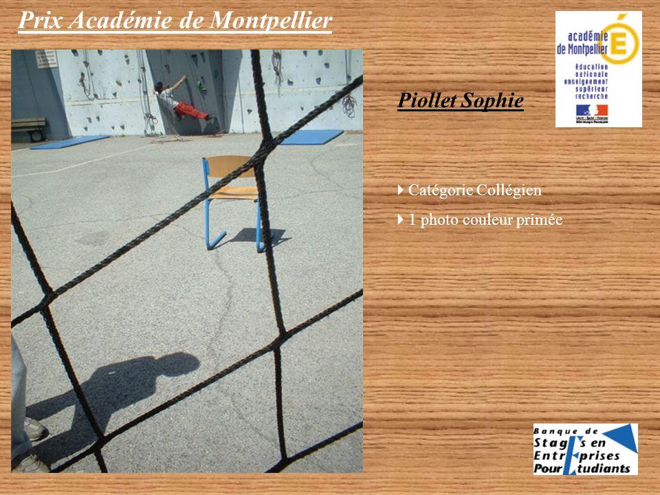Prix Académie de Montpellier Merlin Pauzié, Marine Olivier, Sarah Mulard Catégorie Collégien 1 photo NB primée