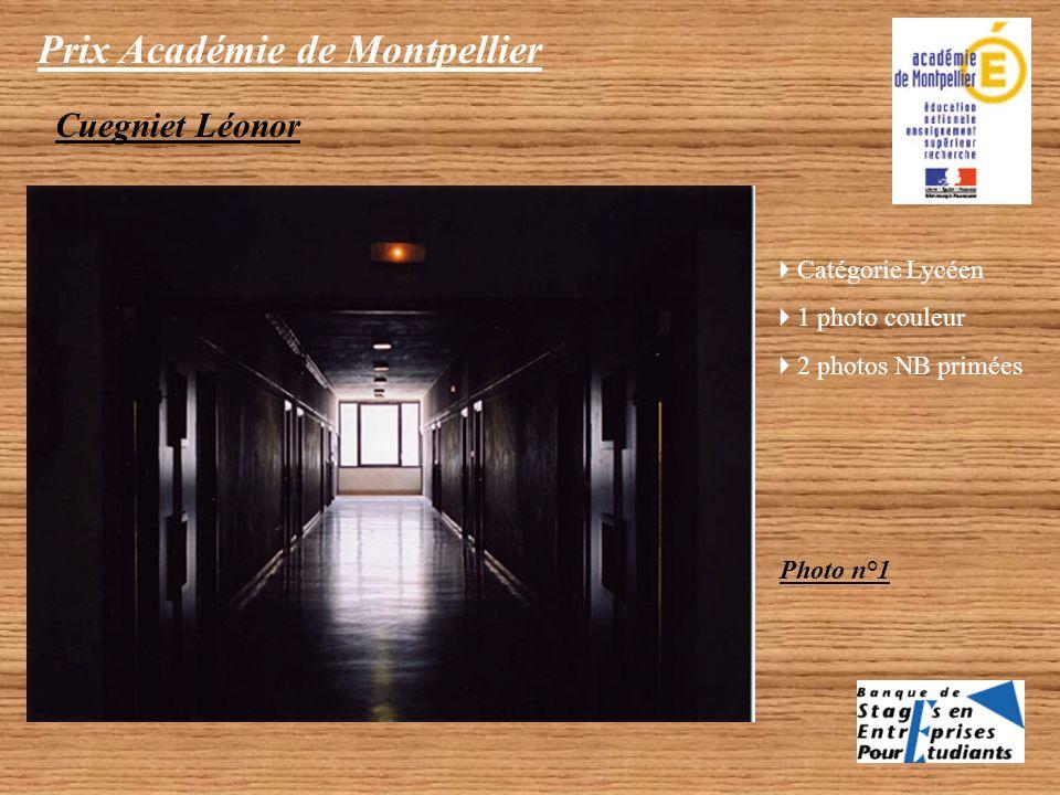 Prix Académie de Montpellier Catégorie Lycéen 1 photo NB primée Albert Carline