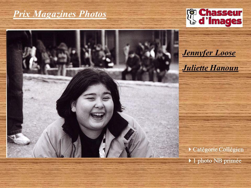 Prix Magazines Photos Décerné par le magazine Chasseur dImages Jennyfer Loose, Juliette Hanoun – Catégorie Collégien 1 photo Noir et Blanc primée (tra