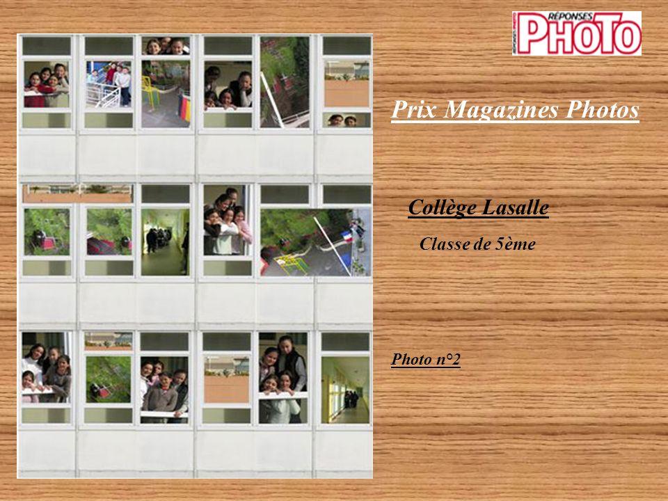 Prix Magazines Photos Catégorie Collégien 2 photos couleur primées Collège Lasalle Classe de 5ème Photo n°1