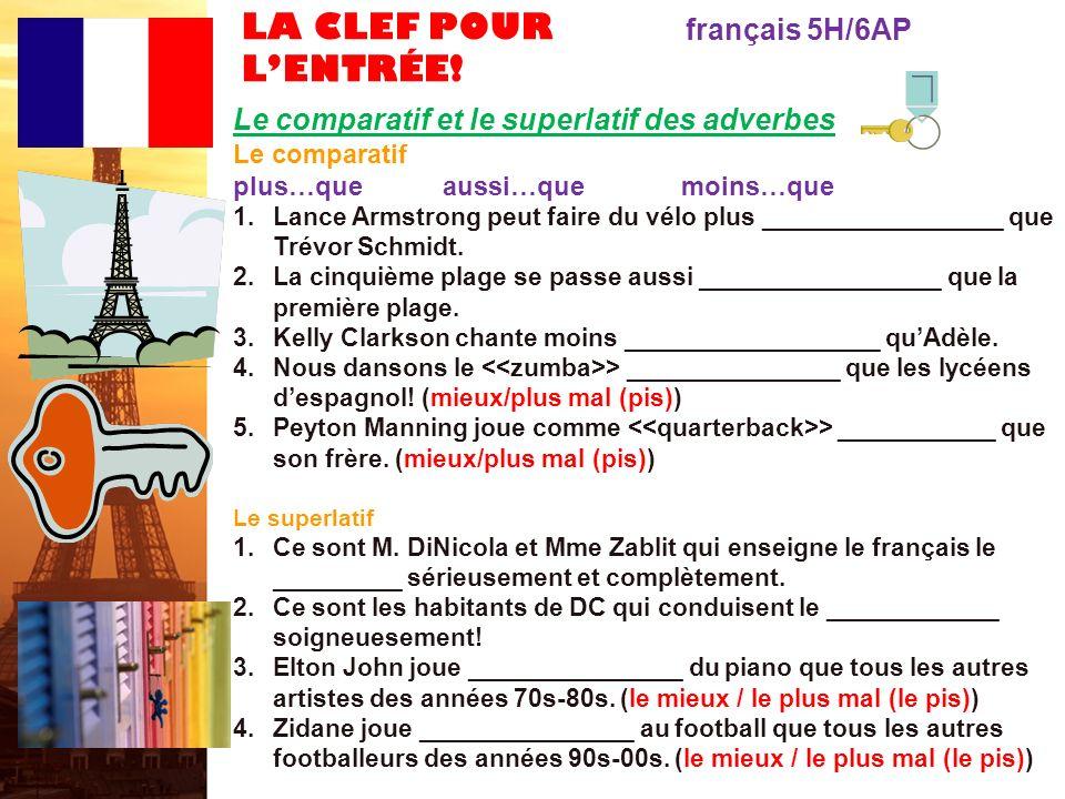 français 6AP le 20-21 mars 2012 ActivitéClasseur Lentrée .