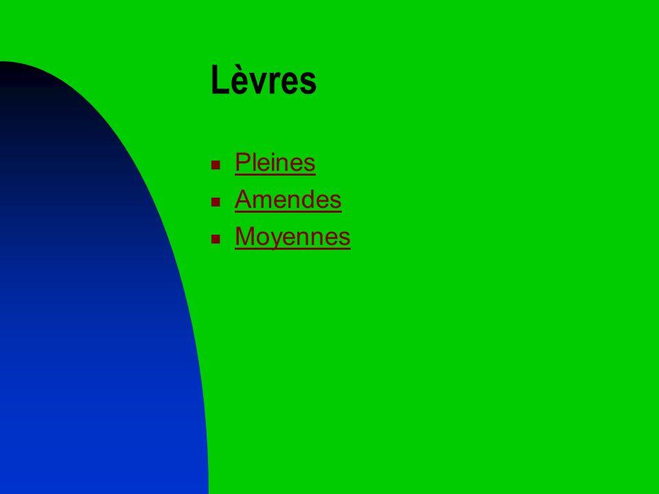 Lèvres Pleines Amendes Moyennes