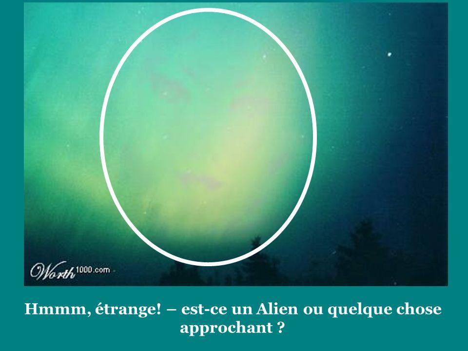 Hmmm, étrange! – est-ce un Alien ou quelque chose approchant ?