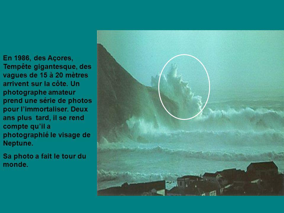 En 1986, des Açores, Tempête gigantesque, des vagues de 15 à 20 mètres arrivent sur la côte.