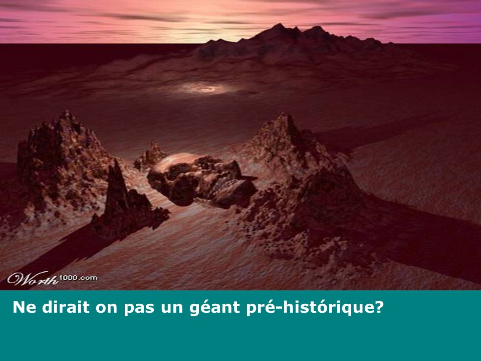 Ne dirait on pas un géant pré-histórique?