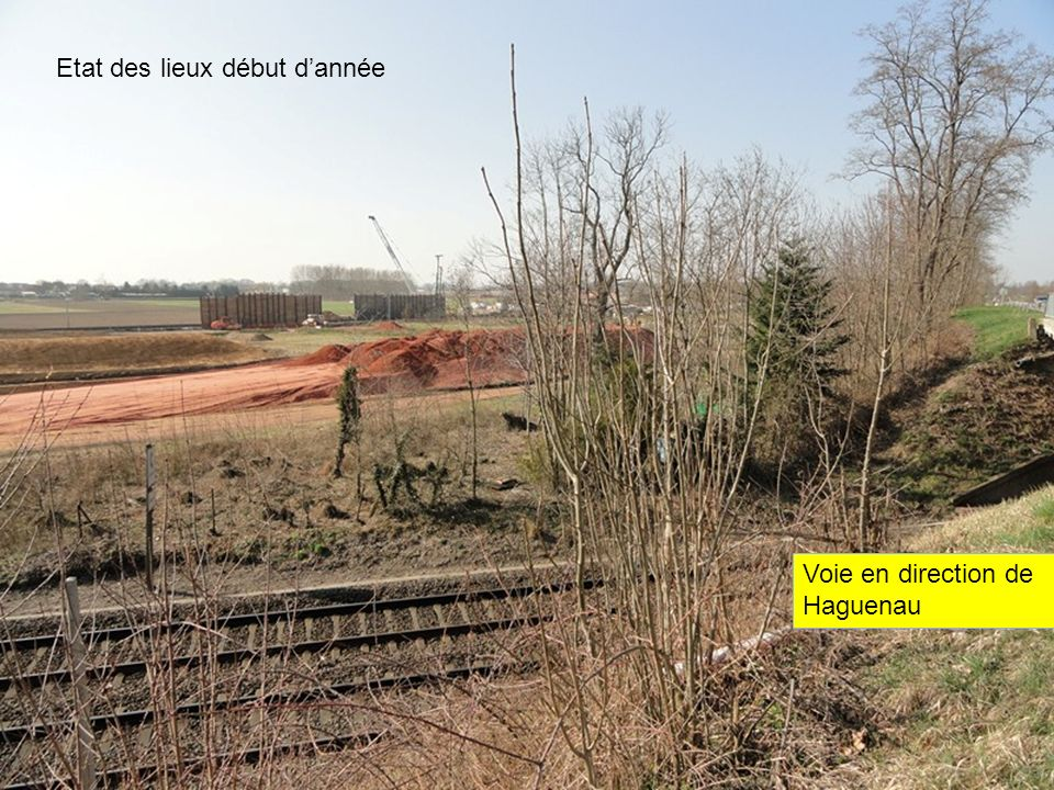 La construction du pont qui permettra de relier Duntzenheim à Ingenheim Vers Strasbourg