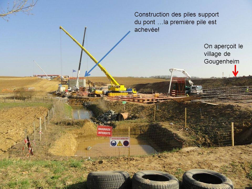 Aperçu du chantier en mars..! Entre Rohr et Hochfelden au niveau de Gingsheim et Gougenheim