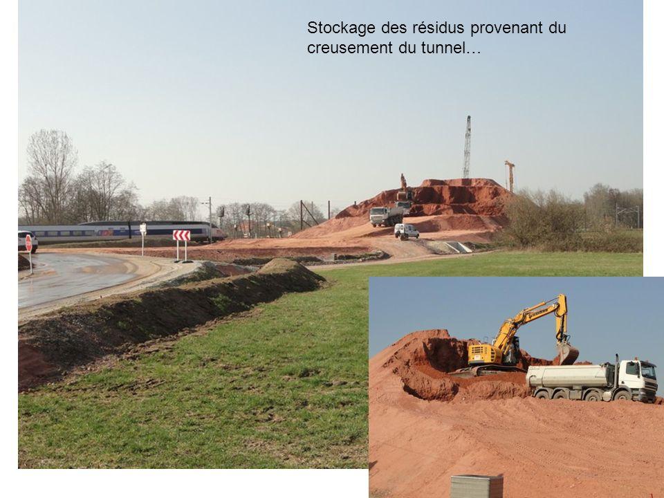 Création de passages souterrain pour les petits animaux sauvage….et pour lassainissement… Vue en direction de Eckwersheim.