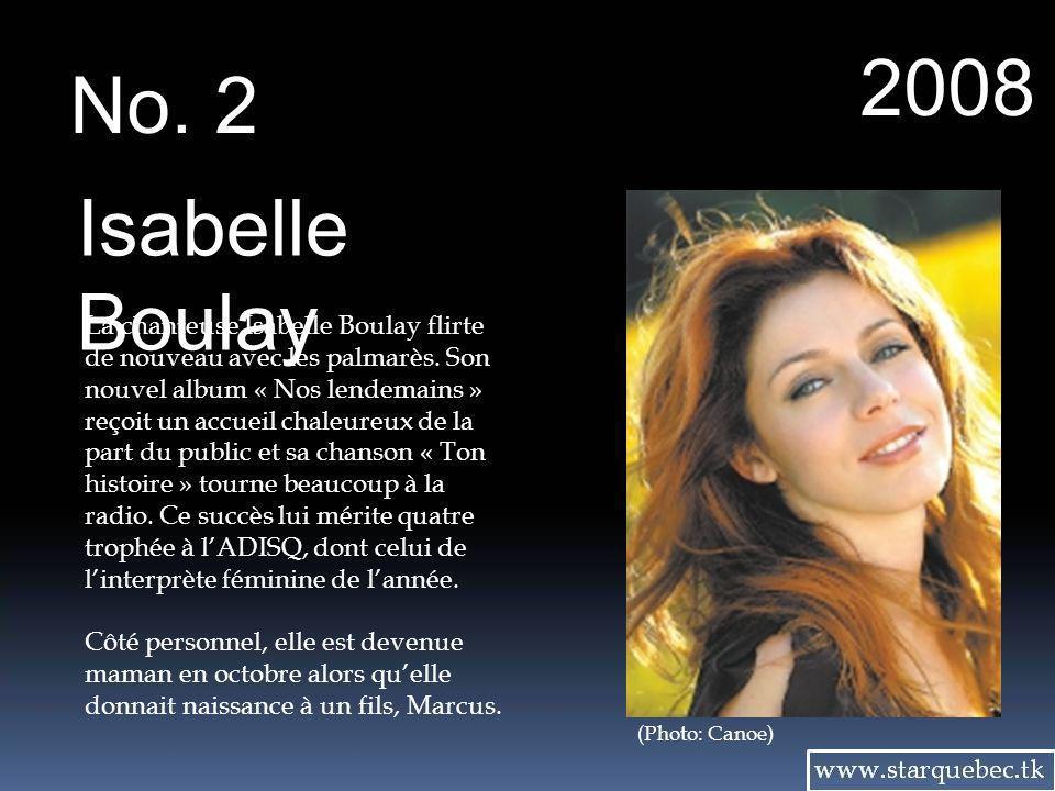 Photo: canoe) la chanteuse isabelle boulay flirte de nouveau avec les