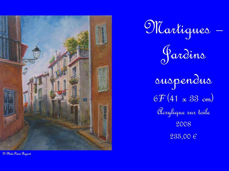 Martigues – Jardins suspendus 6 F (41 x 33 cm) Acrylique sur toile 2008 235,00 © Photo Pierre Rigaud