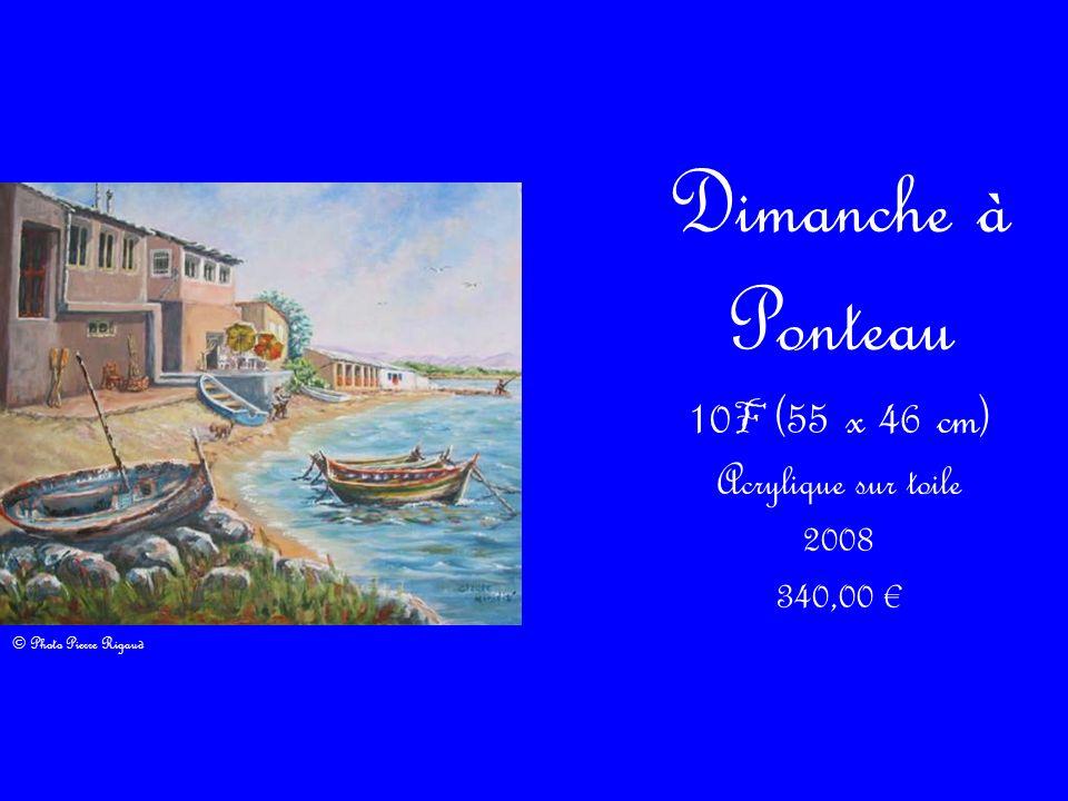 Dimanche à Ponteau 10 F (55 x 46 cm) Acrylique sur toile 2008 340,00 © Photo Pierre Rigaud