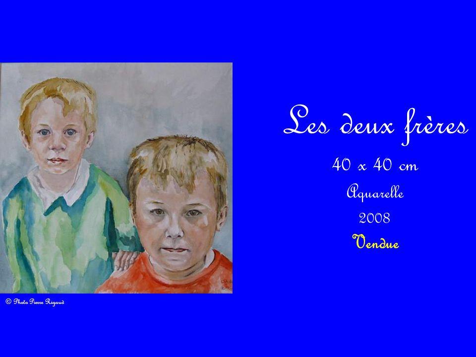 Les deux frères 40 x 40 cm Aquarelle 2008 Vendue © Photo Pierre Rigaud