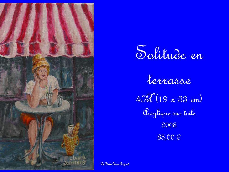 Solitude en terrasse 4 M (19 x 33 cm) Acrylique sur toile 2008 85,00 © Photo Pierre Rigaud