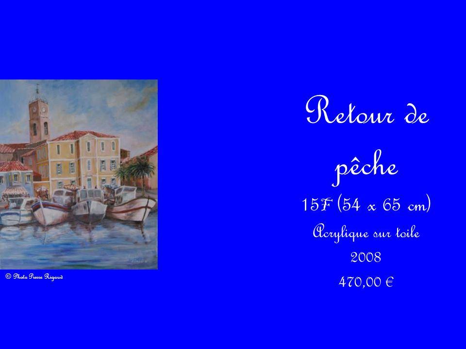 Retour de pêche 15 F (54 x 65 cm) Acrylique sur toile 2008 470,00 © Photo Pierre Rigaud
