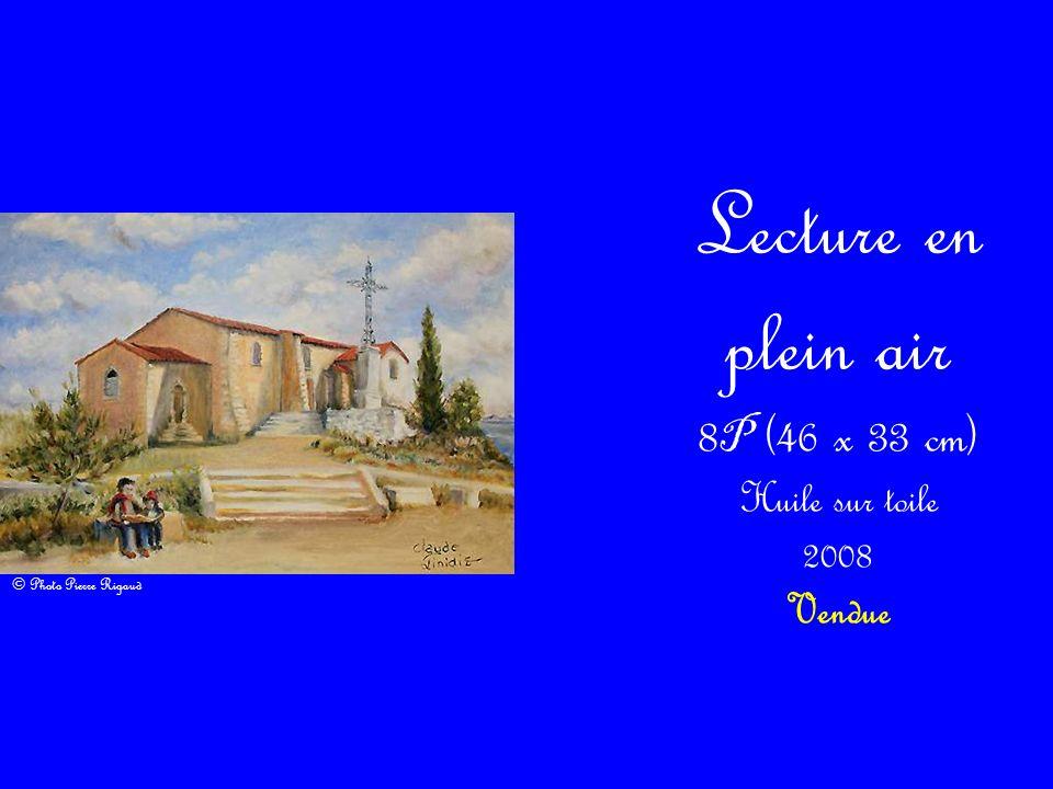 Lecture en plein air 8 P (46 x 33 cm) Huile sur toile 2008 Vendue © Photo Pierre Rigaud