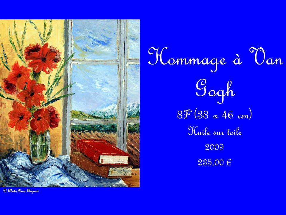 Hommage à Van Gogh 8 F (38 x 46 cm) Huile sur toile 2009 235,00 © Photo Pierre Rigaud