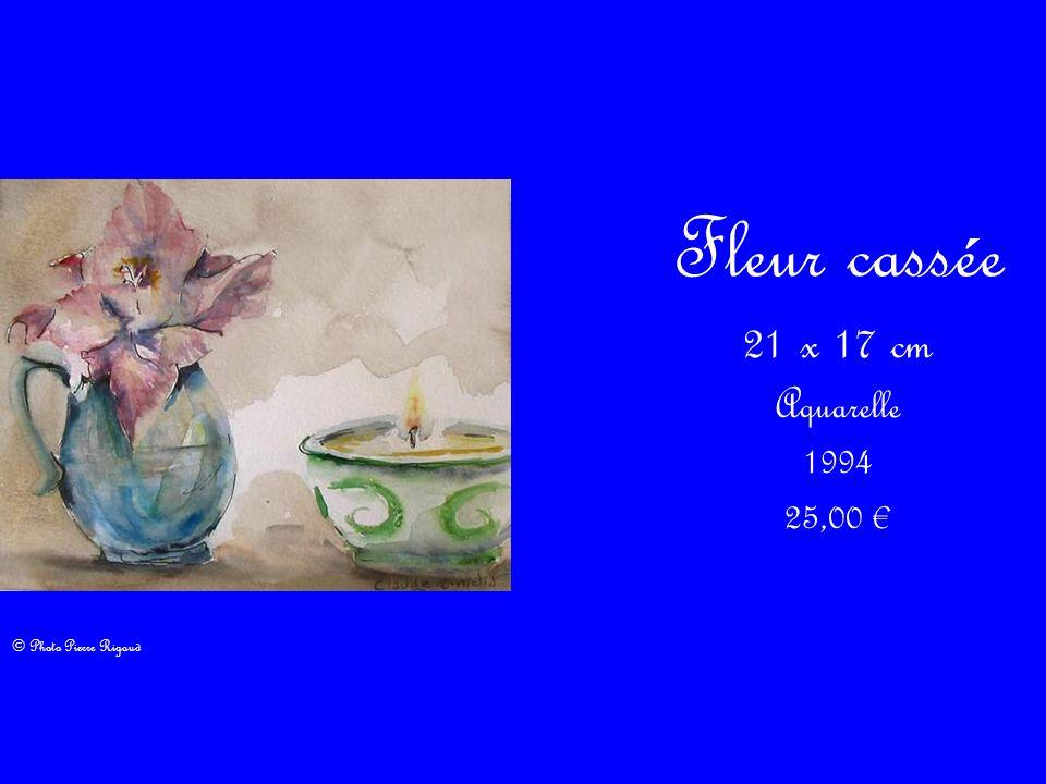 Fleur cassée 21 x 17 cm Aquarelle 1994 25,00 © Photo Pierre Rigaud