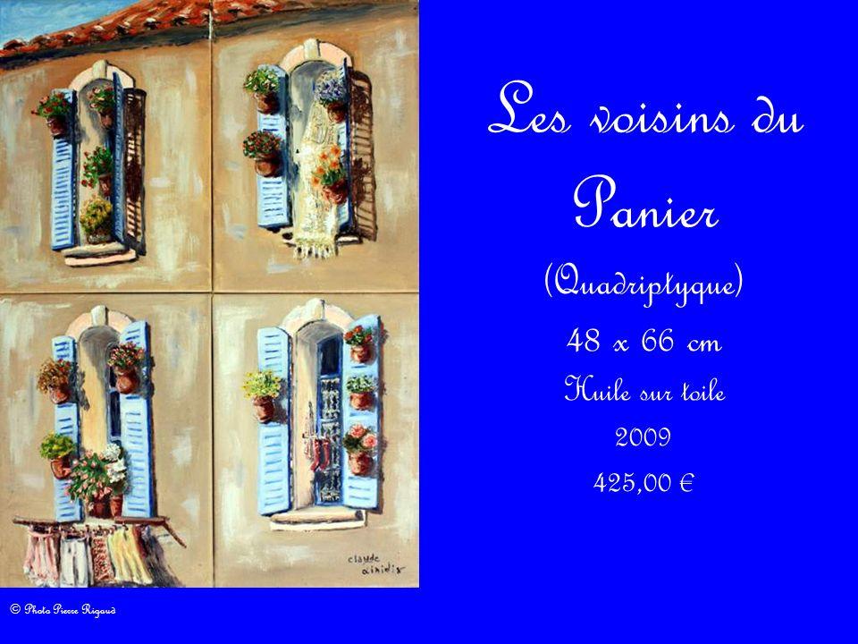 Les voisins du Panier (Quadriptyque) 48 x 66 cm Huile sur toile 2009 425,00 © Photo Pierre Rigaud