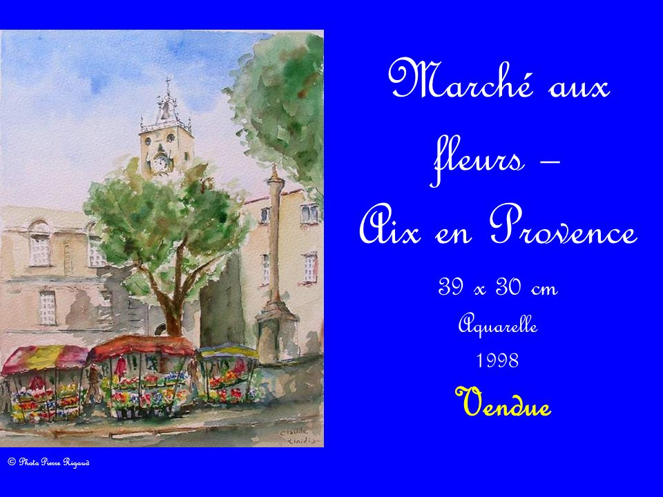 Envol festif 50 x 65 cm Aquarelle 2009 220,00 Cette toile a obtenu le 1 er prix de Peinture dans la catégorie – Aquarelle – lors de la 13 ème édition du concours des Peintres de la Mer à Martigues le 27 juin 2009.