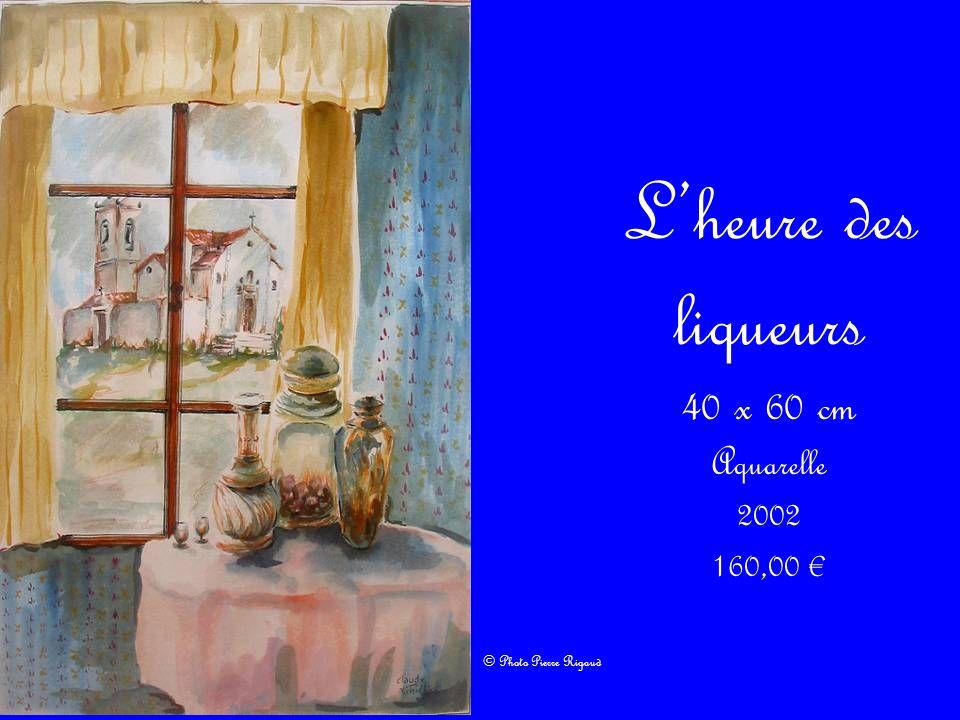 Lheure des liqueurs 40 x 60 cm Aquarelle 2002 160,00 © Photo Pierre Rigaud