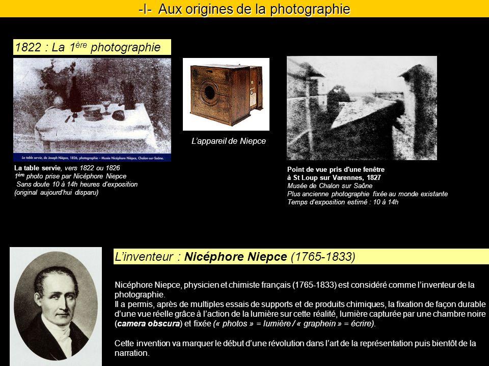 Nicéphore Niepce, physicien et chimiste français (1765-1833) est considéré comme linventeur de la photographie.