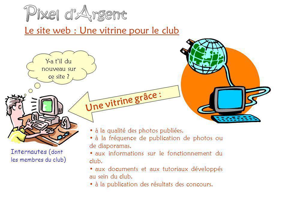 Le site web : Une vitrine pour le club Internautes ( dont les membres du club ) à la qualité des photos publiées.