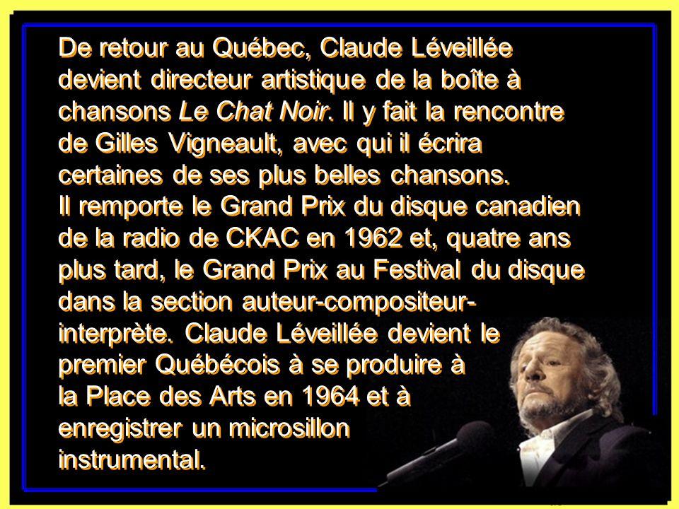 Claude Léveillée en compagnie dÉdith Piaf.