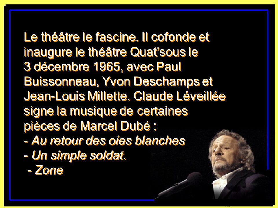 Claude Léveillée avec Gilles Vigneault en 1969. Yves Beauchamp, La Presse