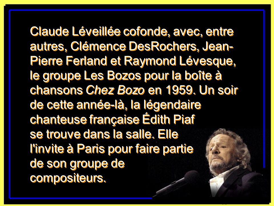 Photo: André Le Coz, Radio-Canada. Claude Léveillée en 1957, à l'émission Music Hall