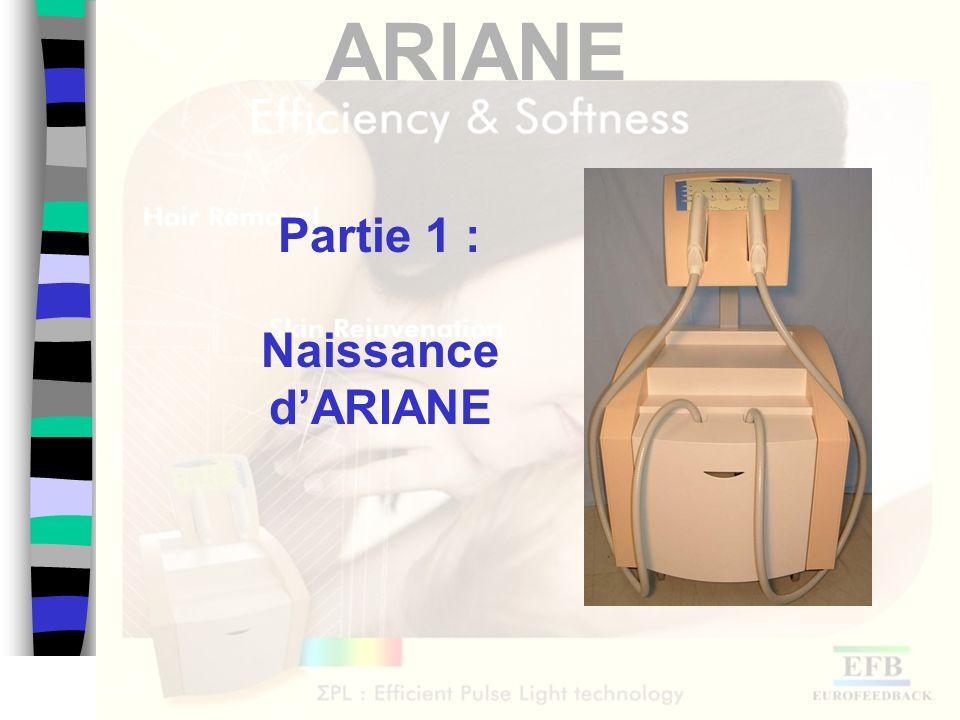 ARIANE Un peu dhistoire 1972 : 1 er brevet sur la photo épilation « poil par poil » 2005 :300 fois plus rapide 3