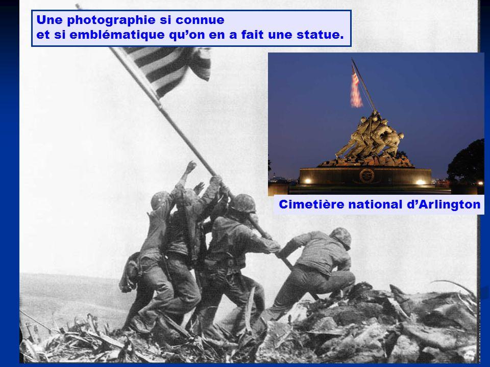 Une photographie si connue et si emblématique quon en a fait une statue. Cimetière national dArlington