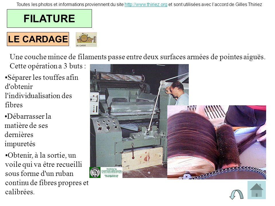 LE CARDAGE FILATURE Toutes les photos et informations proviennent du site http://www.thiriez.org et sont utilisées avec laccord de Gilles Thiriezhttp: